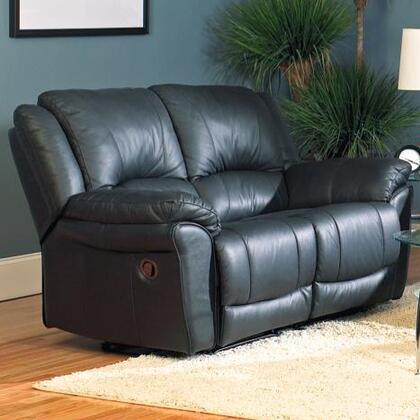 Coaster 7575L Bonded Leather Reclining with Wood Frame Loveseat