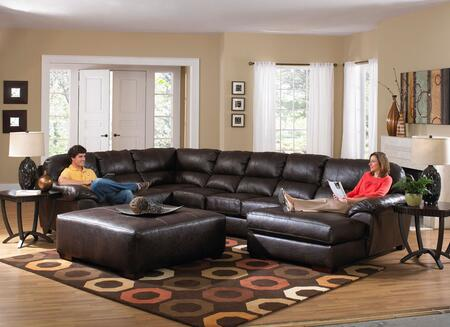 Jackson Furniture 424362K1  Curved Bonded Leather Sofa