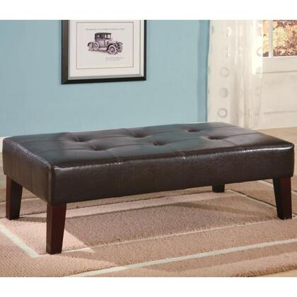 Coaster 501047 Essex Series Contemporary Faux Leather Ottoman