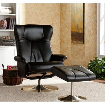 Holly & Martin 85043046101 Modern Bonded Leather Metal Frame  Recliners