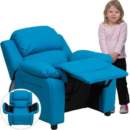 Flash Furniture BT7985KIDTURQGG Childrens Vinyl Wood Frame  Recliners