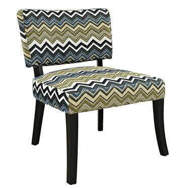 Powell 383 Armless Chair with Hardwood, Plywood, CA Firefoam and 100 Percent Polyester Fabric