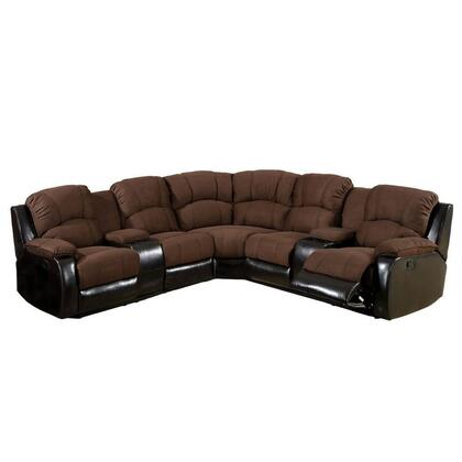 Furniture of america cm6557pk wolcott series reclining for Pebble reversible sectional sofa