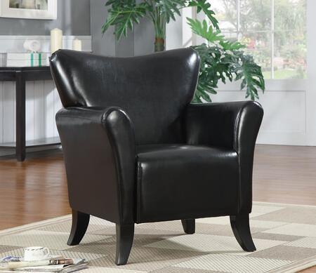 Coaster 900253 Accent Seating Series Armchair Vinyl Wood Frame Accent Chair