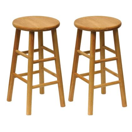 Winsome 8178X Set of 2, Beveled Seat Stool, Assembled in Natural Finish