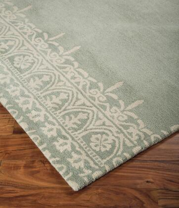 "Signature Design by Ashley Brimly R40036 "" x "" Size Rug with Floral Twisted Argentina Design, Hand-Tufted Made, 11mm Pile Height, Wool Material and Backed with Cotton and Latex in Green Colors"