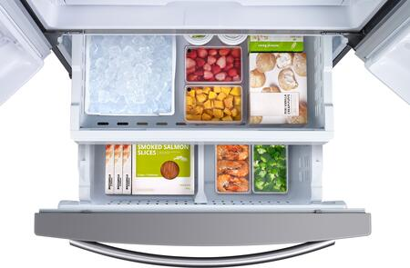 Samsung RF261BEAESR 36 Inch French Door Refrigerator, in
