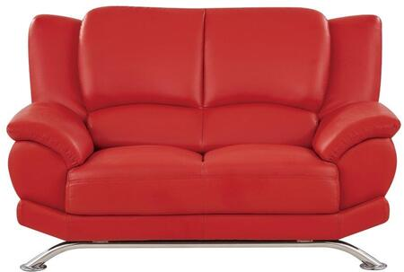 Global Furniture USA 9908RL Leather  with Metal Frame Loveseat