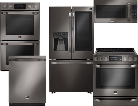 LG Studio 710658 Black Stainless Steel Kitchen Appliance Pac
