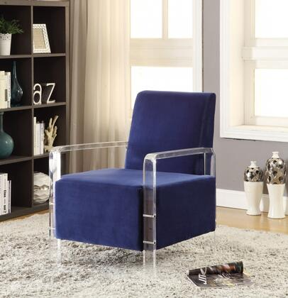 "Meridian Liam 503X 26"" Accent Chair with Acrylic Legs, Contemporary Design and Velvet Material"