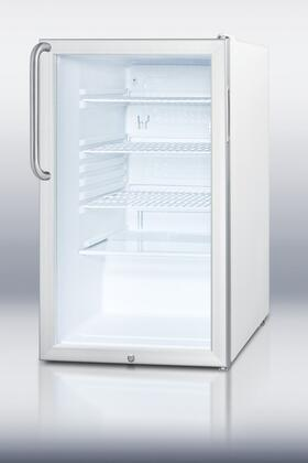 Summit SCR450LBITBADA  Counter Depth All Refrigerator with 4.1 cu. ft. Capacity in White