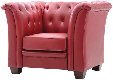 Glory Furniture G329C Faux Leather Armchair in Red Faux Leather