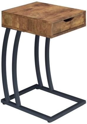 "Coaster Accent Tables 15.75"" Chairside Table with 1 Storage Drawer, 2 Power Outlets, 2 USB Ports and Swooping Metal Legs in"