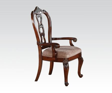 Acme Furniture 62313 Nathaneal Series Traditional Fabric Wood Frame Dining Room Chair