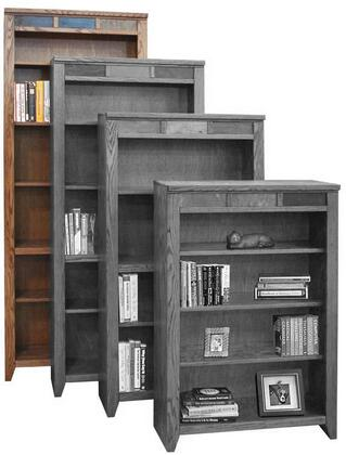 Legends Furniture OC6684GDOOak Creek Series Wood 6 Shelves Bookcase