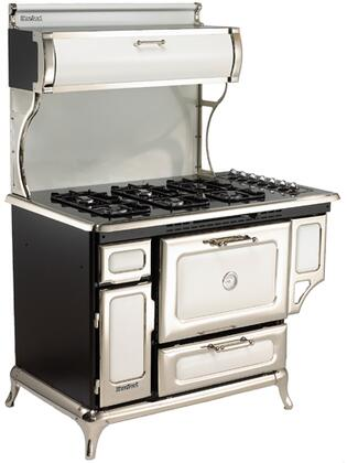 "Heartland Classic Series 5210-CDP 48"" Freestanding Dual Fuel Range with 6 Sealed Burners, 4.0 cu. ft. Capacity, Self-Cleaning, Warming Drawer, 350 CFM Exhaust System, & Electronic Ignition, in"