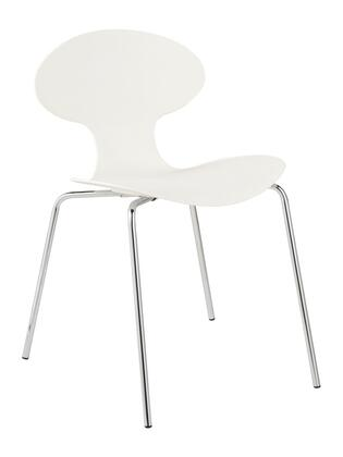 Euro Style 01154 Becky Series Contemporary Polyester Metal Frame Dining Room Chair