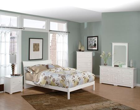 Atlantic Furniture SSOHOOFQUEENWH Soho Series  Queen Size Bed