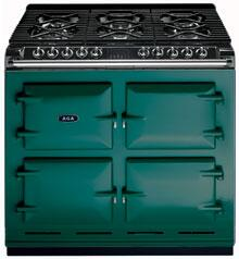AGA A64LPGSIJAD  Dual Fuel Freestanding Range with Sealed Burner Cooktop, 4.5 cu. ft. Primary Oven Capacity, in Jade