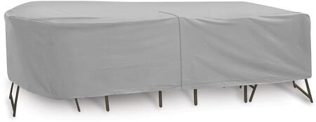 """PCI by Adco 120"""" x 80"""" x 30"""" Oval/Rectangular Table and 6 Patio Chairs Cover with Water Resistant, Secured Velcro Ties and Heavy Duty Vinyl Fabric in"""