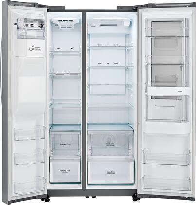 LG LSXS26396S 36 Inch Side by Side Refrigerator with 26.1 cu. ft ...