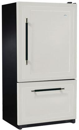 Heartland 316502LHD  Counter Depth Bottom Freezer Refrigerator with 20.2 cu. ft. Capacity in White