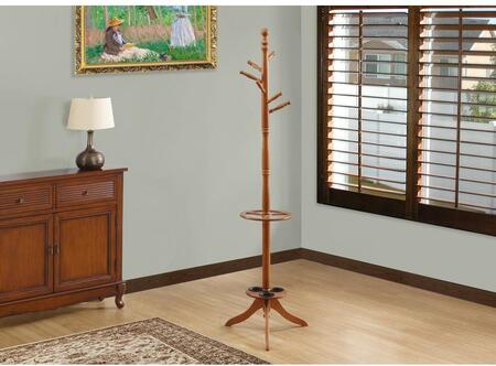 "Monarch I 202X 71"" Coat Rack with Six Hooks, 3 Umbrella Holders and Solid Wood Construction"
