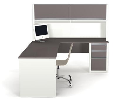 Bestar Furniture 93877 Connexion L-shaped workstation including assembled pedestal
