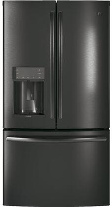 """GE Profile PFE28KBLTS 36""""  French Door Refrigerator with 27.8 cu. ft. Capacity in Black Stainless Steel"""