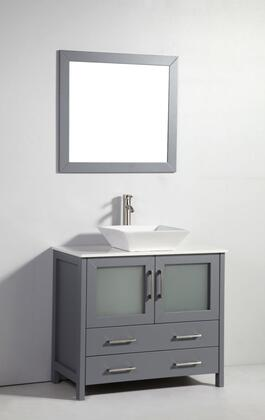 Legion Furniture WA7836 36in. Solid Wood Sink Vanity With Mirror-No Faucet