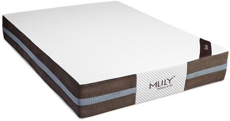 """MLily Fusion Collection FUSION12 12"""" Mattress with Synthetic Latex-Like Soft Memory Foam, Pocketed Innerspring Coils, Open Cell Structure and Removable Cover in White Color"""