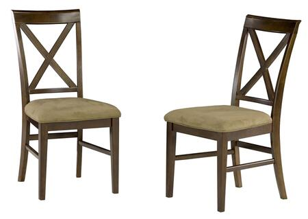 Atlantic Furniture LEXINGTONDCCC Lexington Collection Set of 2 Dining Chairs with Cappuccino Seat Cushions: