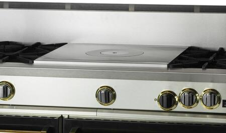 """BlueStar RNB364FTPMV 36"""" Precious Metals Series Gas Range with 4 Burners, 12"""" French Top, Continuous Cast Iron Grates and Unique French Door Extra Large Convection Oven"""