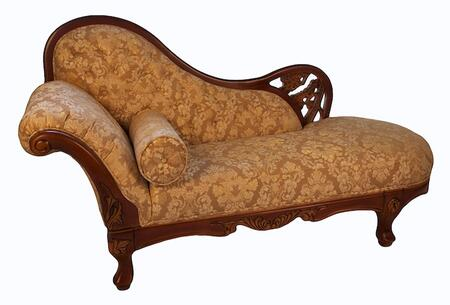 J. Horn 702CHA 702 Series Transitional Leather Chaise Lounge