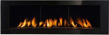 """Napoleon Linear 62 LHD62 74"""" Direct Vent Natural Gas or Propane Gas Fireplace with Electronic Ignition, Up to 50,000 BTU's, Ribbon Burner, Exclusive NIGHT LIGHT, Back-Up Control System, Proflame II Remote Control and Heat Radiating Ceramic Glass"""