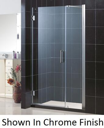DreamLine SHDR-20407210 Unidoor Frameless Hinged Shower Door With Self-Closing Solid Brass Wall Mounted Hinges (5 Degree Offset), Reversible For Right or Left Door Opening & In