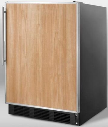 Summit SCFF55BFR  Built In Counter Depth Refrigerator with 5 cu. ft. Capacity, 3 Glass ShelvesField Reversible Doors