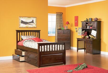 Atlantic Furniture MAT4AWTW  Twin Size Bed