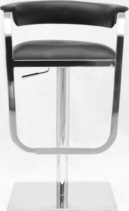 Fine Mod Imports FMI10022BLACK Barb Series Residential Faux Leather Upholstered Bar Stool