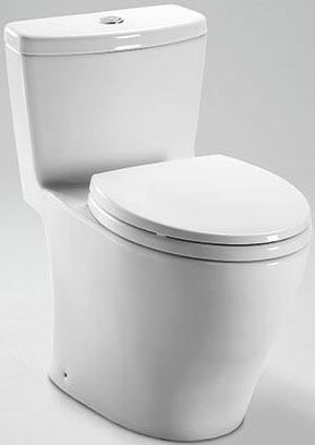 "Toto Aquia MS654114MF 16"" One-Piece High-Efficiency Toilet With Dual Max Flusing System, 12"" Rough In, CalGreen Compliant,1.6GPF, 0.9 GPF, Dual Flush Option, Elongated Skirt, In"