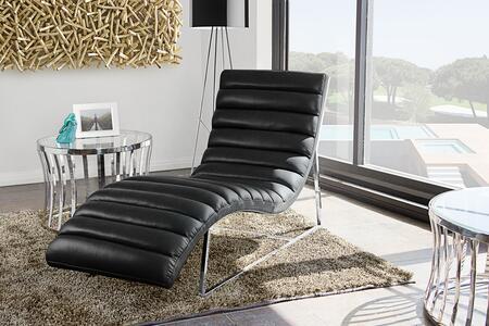 Diamond Sofa BARDOTCABL Bardot Series Modern Bonded Leather Metal Frame Chaise Lounge