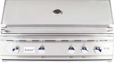 "Summerset Grills TRL38 38"" TRL Series Built-In Grill with 4 Stainless Steel U-Tube Burners, Rotisserie Infrared Back Burner, 1156 sq. in. Cooking Surface and Interior Halogen Light, in Stainless Steel"