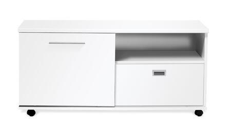 Unique Furniture 523X Low Side Cabinet with Filing & Sliding Door