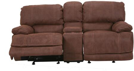 Myco Furniture CN220LPDW Concord Series Microfiber Reclining with Wood Frame Loveseat