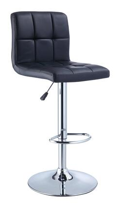 Powell 851 Quilted Faux Leather and Chrome Adjustable Height 360 Swivel Barstool