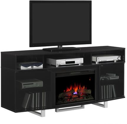 Classic Flame 26MM9665 Enterprise Lite Electric Fireplace Entertainment Center with Tempered Glass Doors, Side Storage Cabinets and Adjustable Shelves in