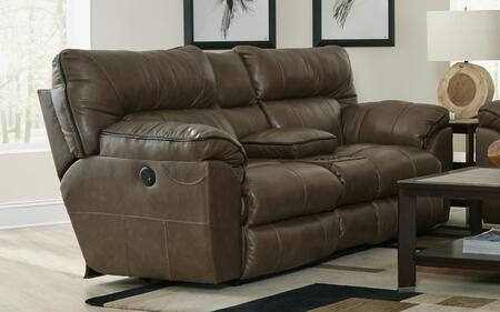 Catnapper 64349128318308318 Milan Series Leather Reclining with Metal Frame Loveseat