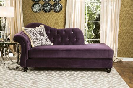 """Furniture of America Antoinette Collection SM222X-CE 81"""" Chaise with Rolled Arms, Reverse Camelback Design and Deep Tufting in"""