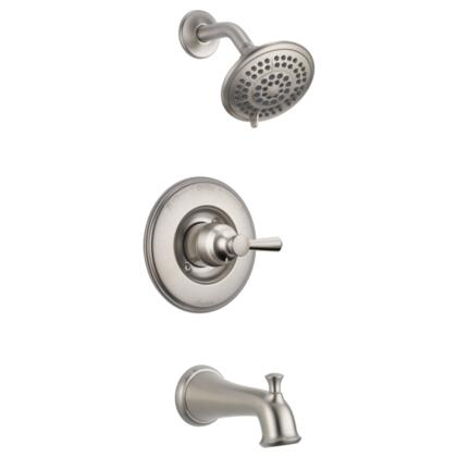 Linden T14493-SS Delta Linden: Monitor 14 Series Tub and Shower Trim in Stainless