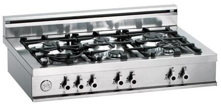 Bertazzoni C36600X Professional Series Gas Sealed Burner Style Cooktop, in Stainless Steel